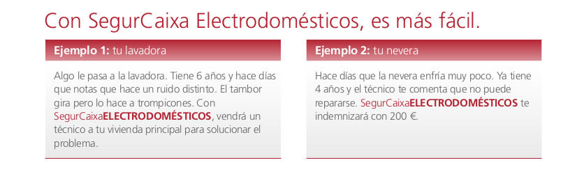 SegurCaixa Electrodomésticos ejemplo