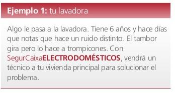 Ejemplo seguro de electrodomésticos