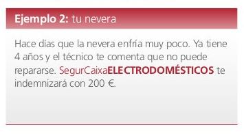Ejemplo seguro de electrodomésticos Adeslas.